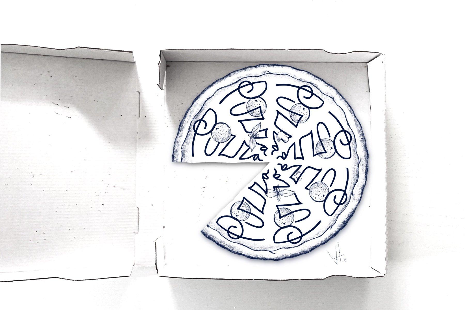 Pizza Visual Content Creation Design