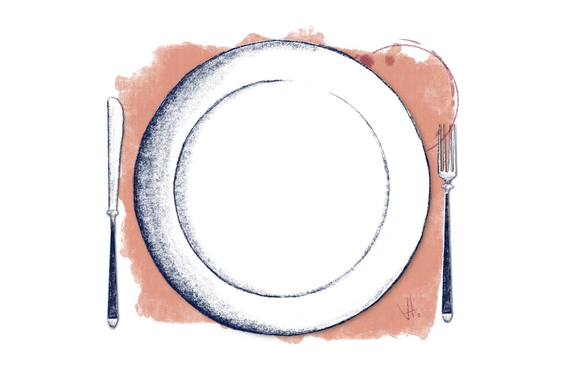 Design Teller Plate Visual Content Creation