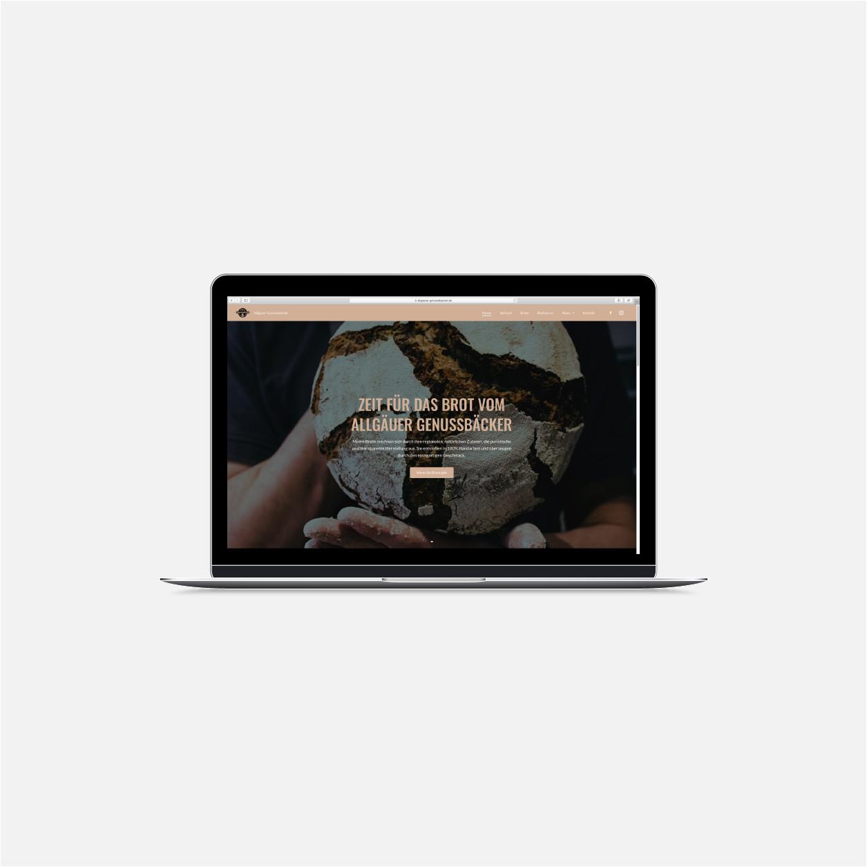 screen Webdesign Visual Content Design Website Genussbaecker