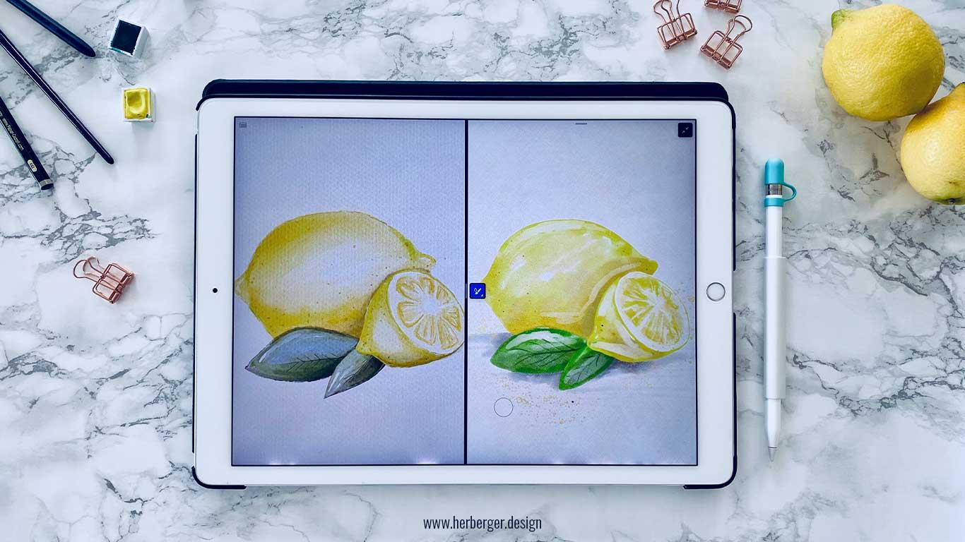 Procreate und Adobe Fresco im Vergleich