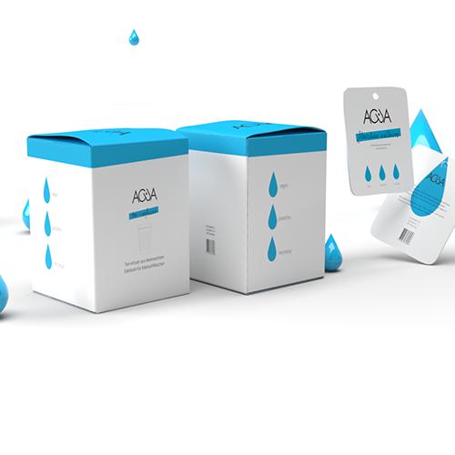 Packaging Acua Bottles