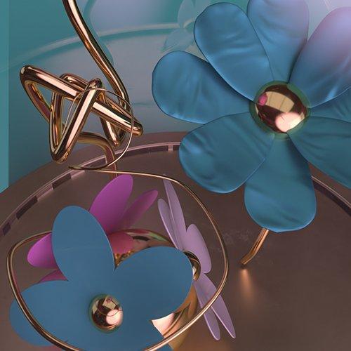 Magic Butterkeys and Flowers